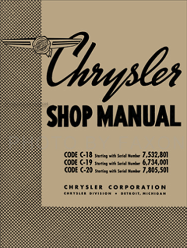 1938 Chrysler Shop Manual Reprint