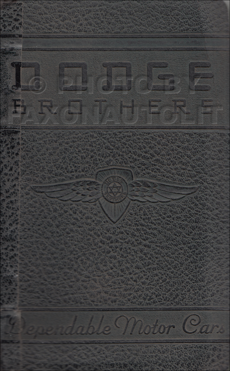 1938 Dodge Car Data Book Original