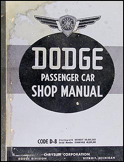 1938 Dodge Car Shop Manual Original