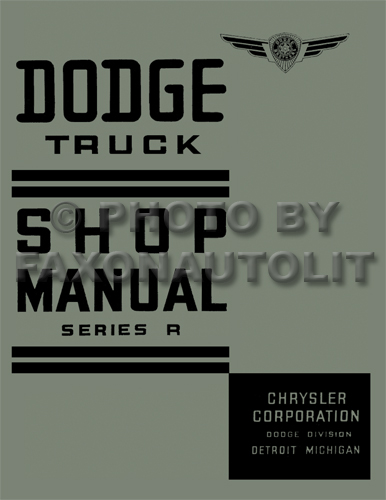 1938 Dodge Pickup & Truck Shop Manual Reprint