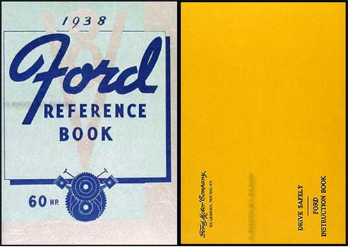 1938 Ford 60 HP Car & Pickup Owner's Manual Reprint