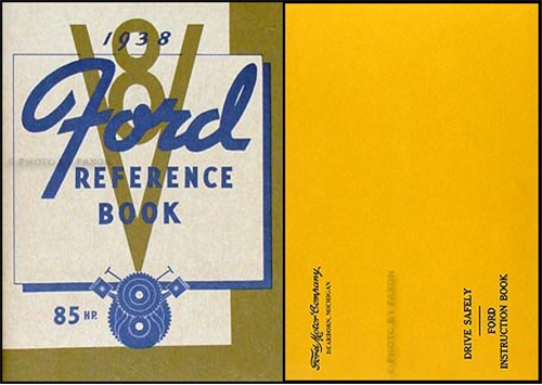 1938 Ford 85 HP Car & Pickup Owner's Manual Reprint