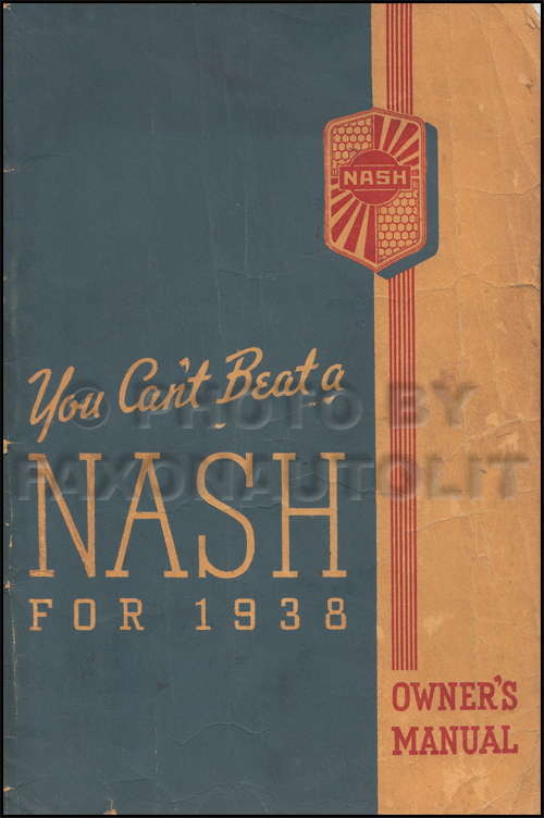 1938 Nash Owner's Manual Original