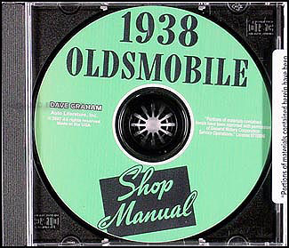 1938 Oldsmobile CD-ROM Shop Manual