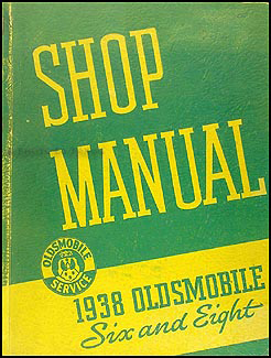 1938 Oldsmobile Repair Manual Original 8 1/2 x 11""