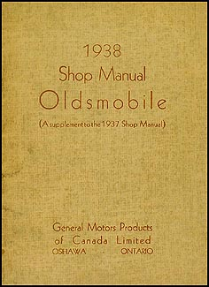 1938 Oldsmobile Repair Manual Original Supplement Canadian 5 1/2 x 7""