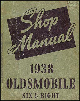 1938 Oldsmobile Repair Manual Original 5 1/2 x 7""