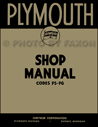 1938 Plymouth Shop Manual Reprint