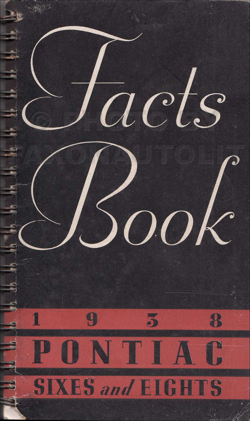 1938 Pontiac Facts Book Dealer Album Original
