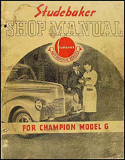 1939-1940 Studebaker Champion Shop Manual Original