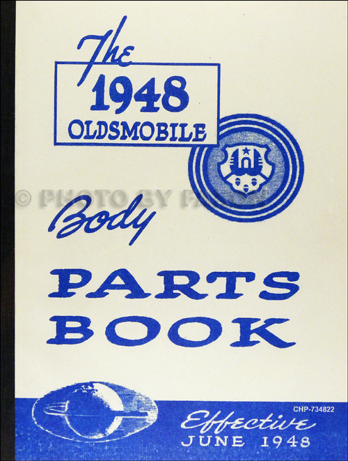 1939-1948 Oldsmobile Master Body Parts Book Reprint