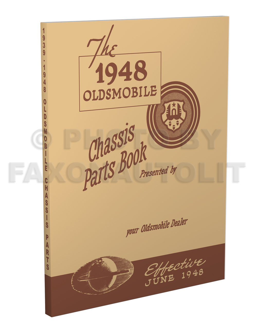 1939-1948 Oldsmobile Master Chassis Parts Book Reprint