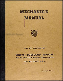 1939-1949 Willys Export Repair Manual Original