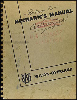 1939-1948 Willys Repair Manual Original