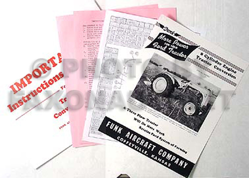 Ford 8N Tractor 8 Cyl. Funk Conversion Instructions Reprint