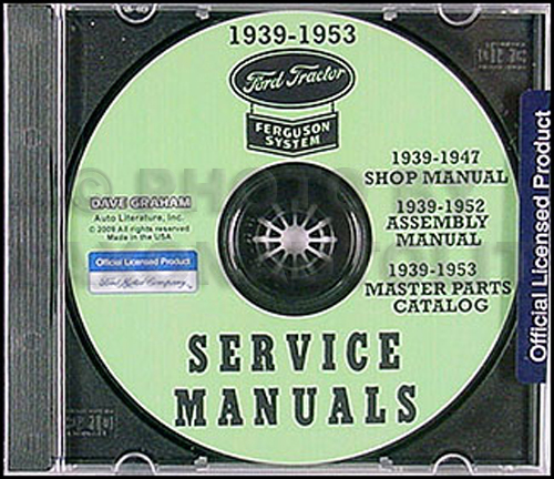 1939-1947 Ford Tractor 2N and 9N Shop Manual Set on CD