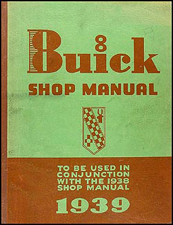 1939 Buick Shop Manual Original Supplement