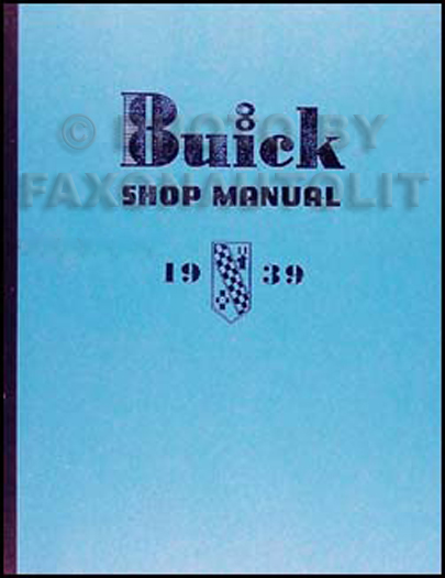 1939 Buick Shop Manual Reprint Supplement