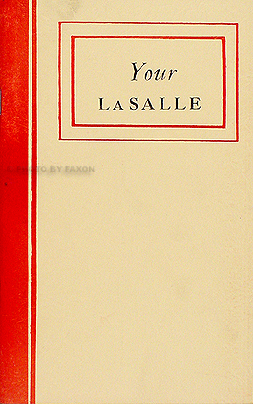 1939 Cadillac La Salle Reprint Owner's Manual