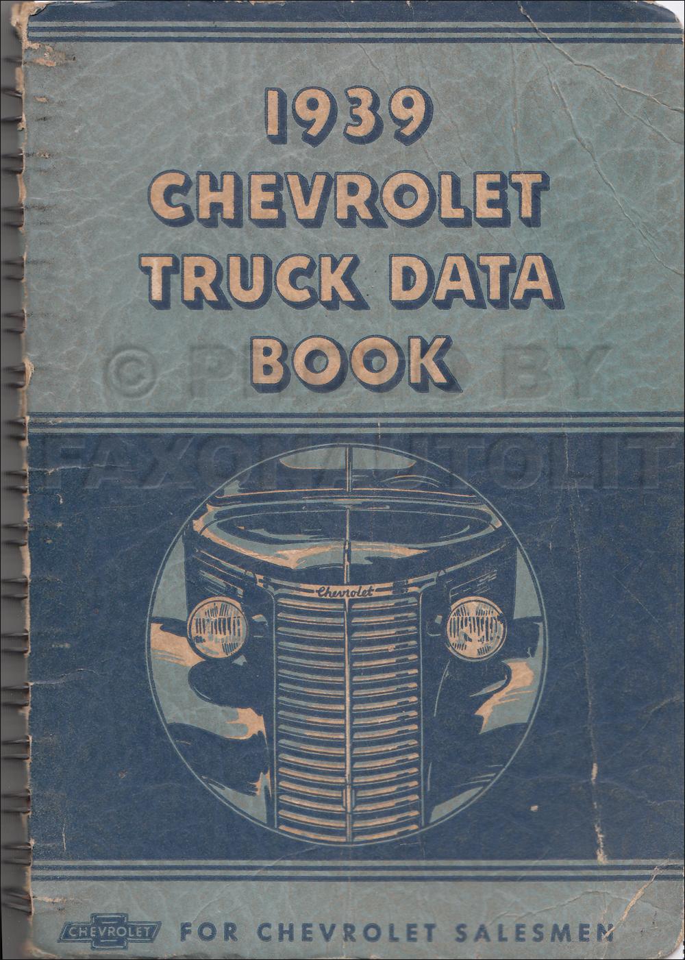 1939 Chevrolet Pickup and Truck Data Book Original