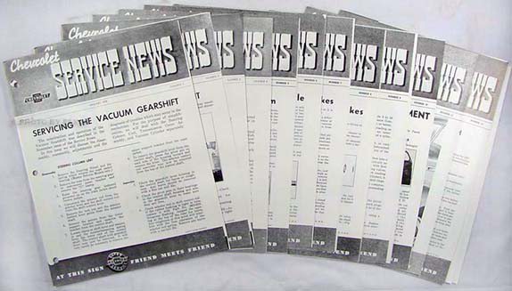 1939 Chevrolet Service News Reprint (10 issues on 1939 & 2 on 1940)