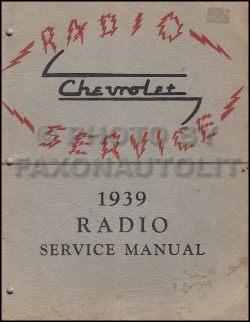 1939 Chevy Radio Manual Original Car, Corvette & Truck