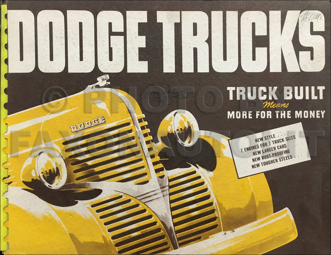 1939 Dodge Truck Dealer Album With Paint Chips Book Original $395.00