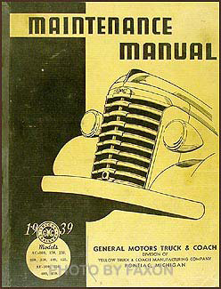 1939 GMC 100-450 Repair Manual Original