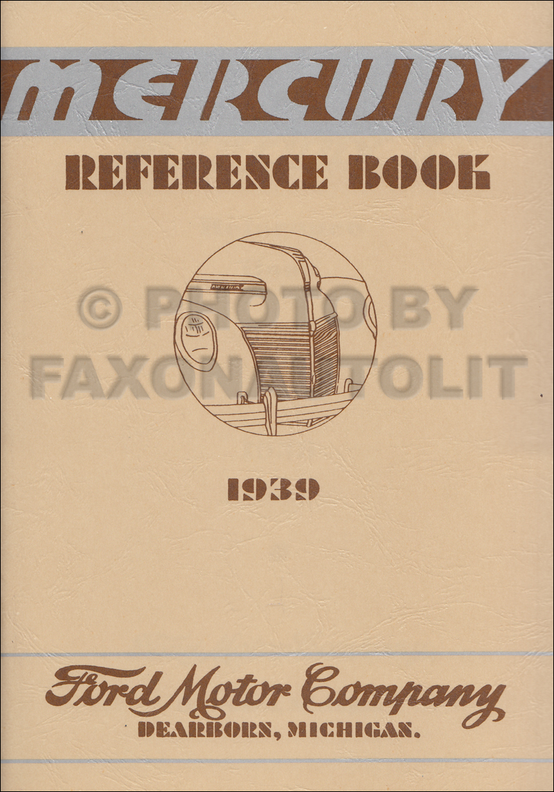 1939 Mercury Owner's Manual Reprint