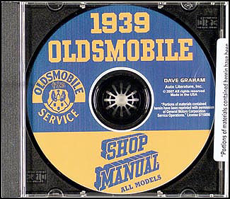 1939 Oldsmobile CD-ROM Shop Manual
