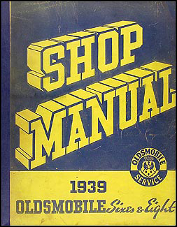1939 Oldsmobile Repair Manual Original 8 1/2 x 11""