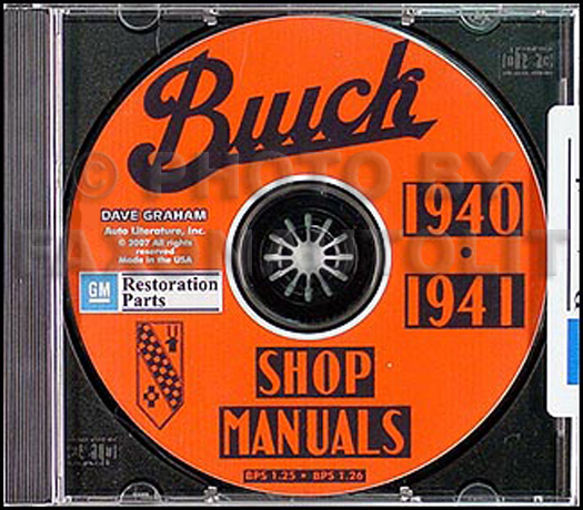 1940-1941 Buick CD-ROM Shop Manuals
