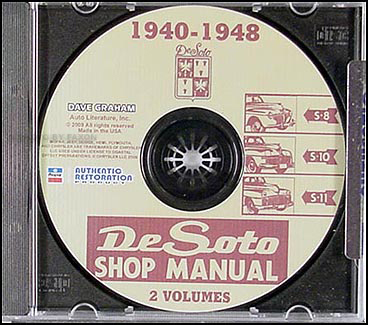 1940-1948 DeSoto Factory Shop Manual CD