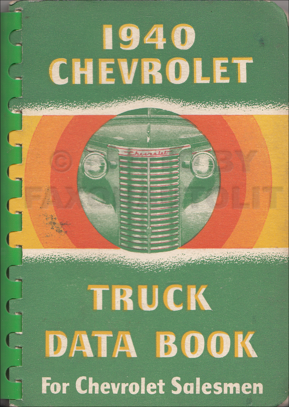 1940 Chevrolet Truck Data Book Original