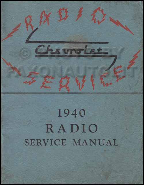 1940 Chevy Radio Manual Original Car & Truck