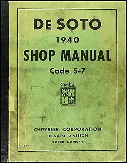1940 De Soto Shop Manual Original