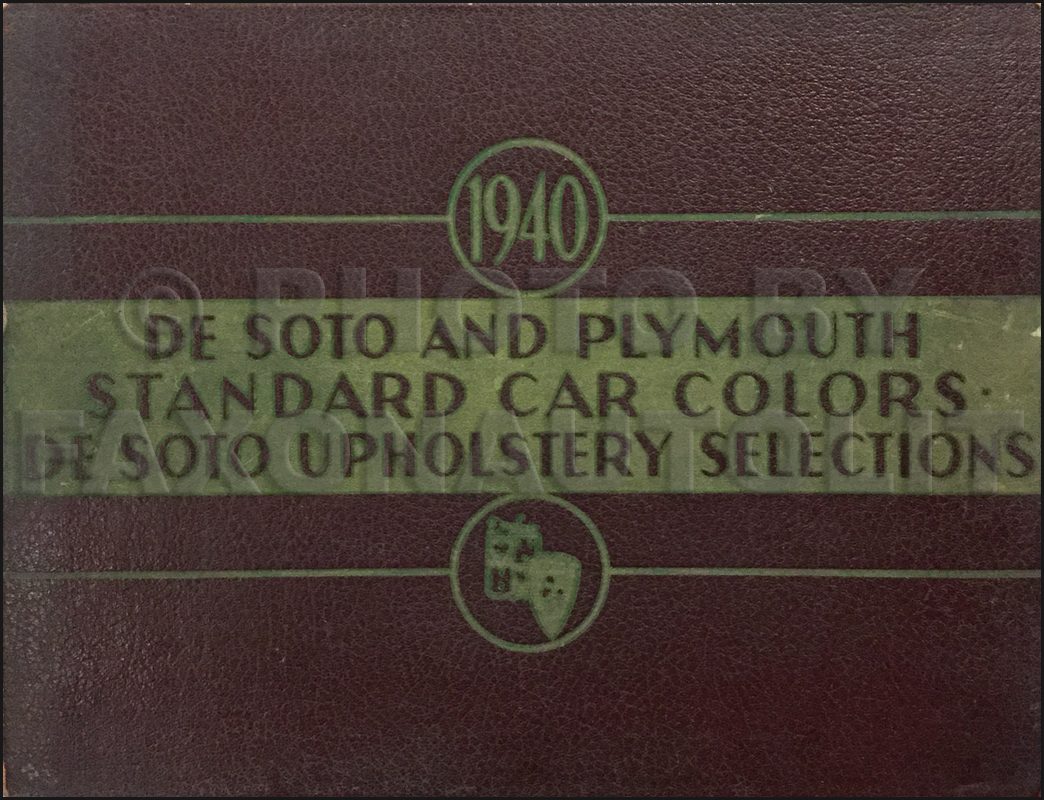 1940 De Soto and Plymouth Color & Upholstery Dealer Album Original