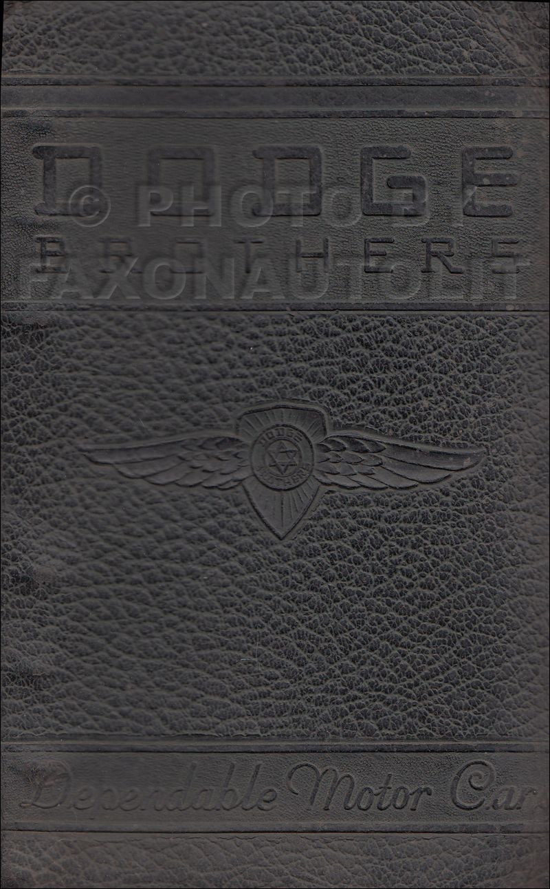 1940 Dodge Data Book Original