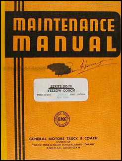 1940 GMC Yellow Coach PG-2901 PG-2902 Cruiserette Repair Shop Manual Orig.