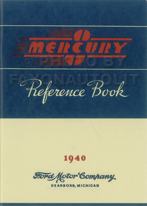 1940 Mercury Owner's Manual Reprint