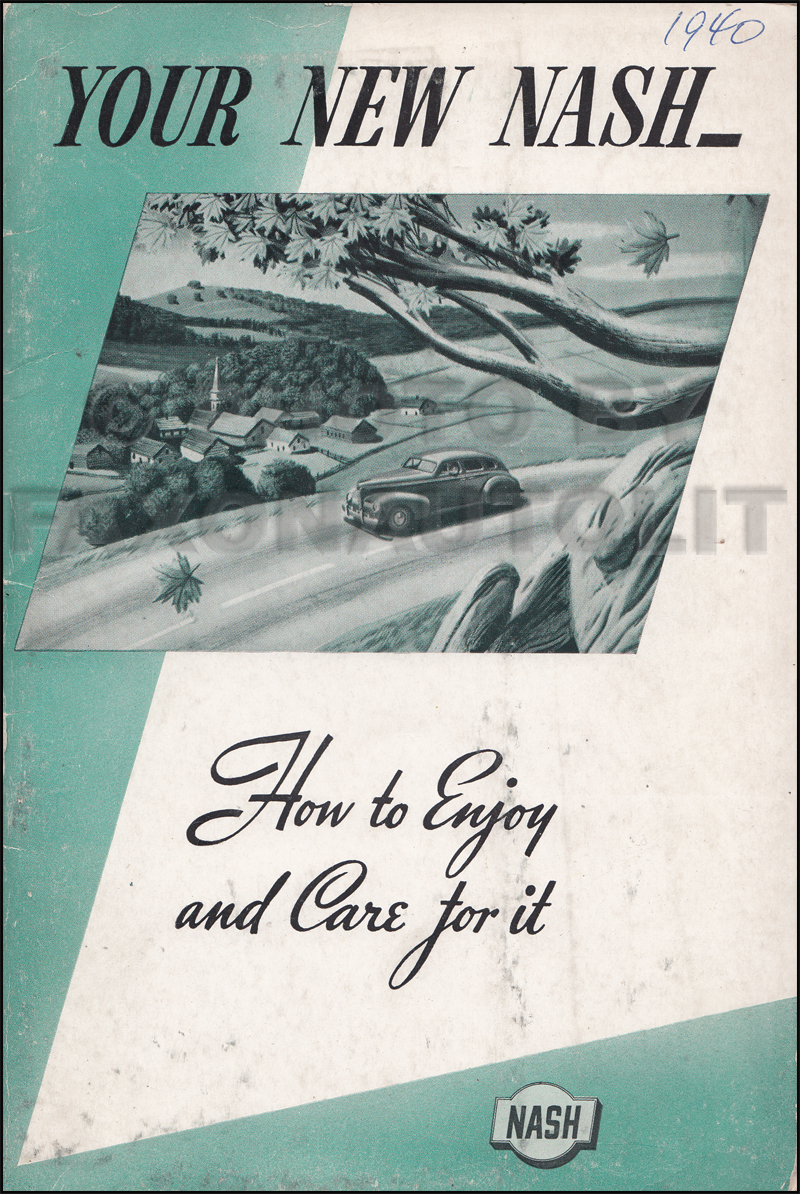1940 Nash Owner's Manual Original