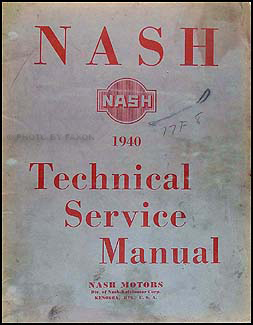 1940 Nash Shop Manual Original