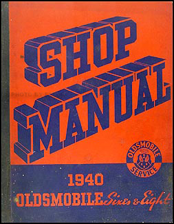 1940 Oldsmobile Repair Manual Original 8 1/2 x 11""