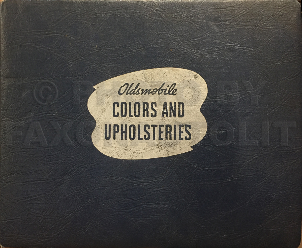 1940 Oldsmobile Color & Upholstery Dealer Album Original