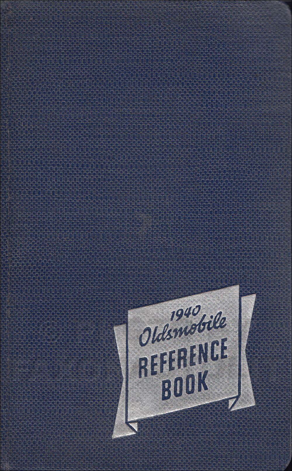 1940 Oldsmobile Facts Book Original