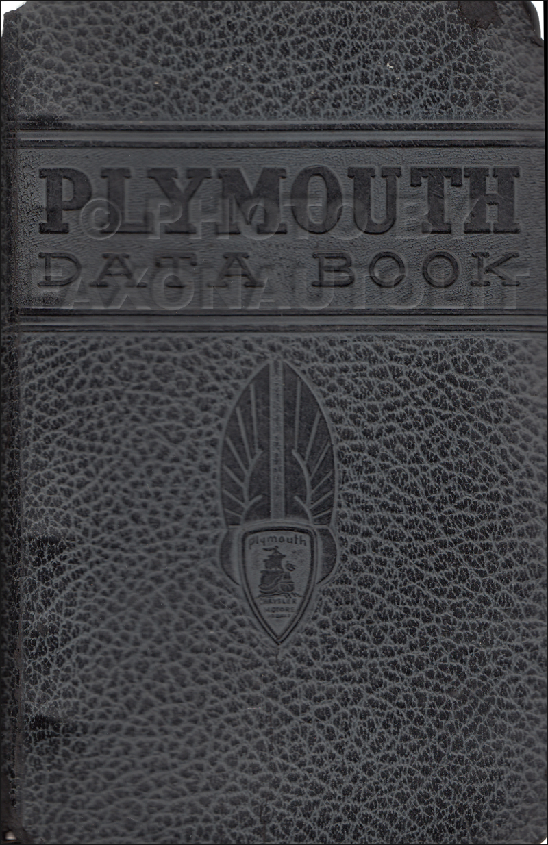 1940 Plymouth Data Book Original