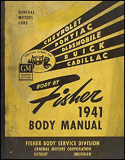 1941-1942 Pontiac Body Repair Manual Original