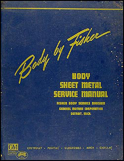 1941-1942 Fisher Body Sheet Metal Service Manual Original