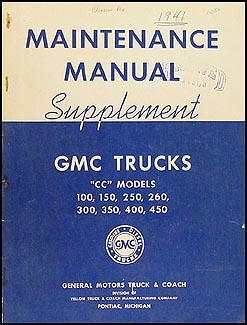 1941-1942 GMC CC100-CC450 Shop Manual Original Supplement