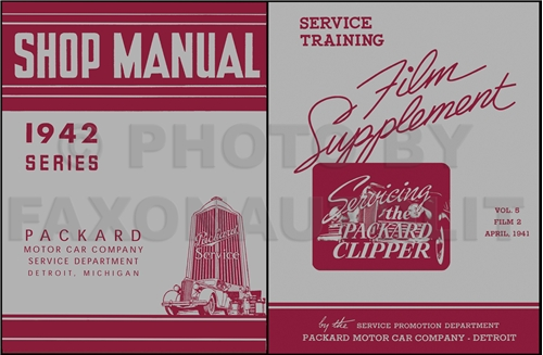 1941 Packard Super Eight 160 & 180 Shop Manual Reprint